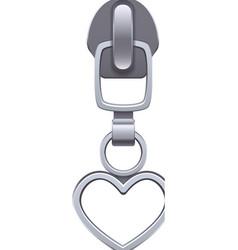 Realistic zipper puller vector