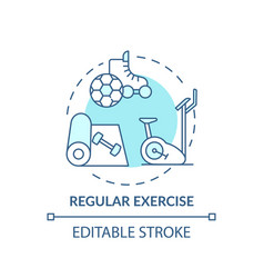 Regular exercise turquoise concept icon vector