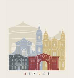 Rennes skyline poster vector