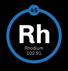 Rhodium chemical element vector