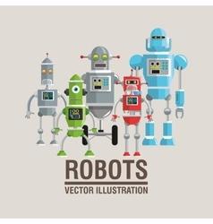 Robot set design Technology concept humanoid vector