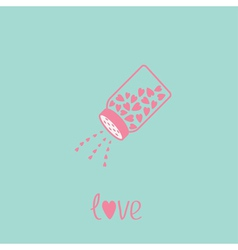 Salt shaker with hearts Happy Valentines day vector image