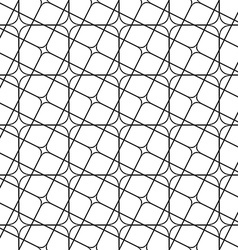 Seamless monochrome angular curved grid pattern vector