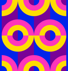 Seamless pattern colorful circle disco style vector