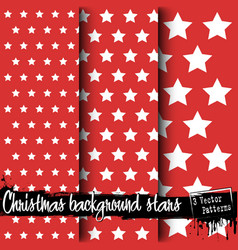 set of christmas backgrounds of stars vector image