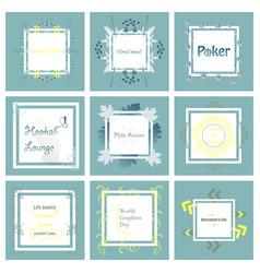 Set of typographic backgrounds motivational vector