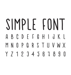 Simple decorative font handwritten vector image vector image