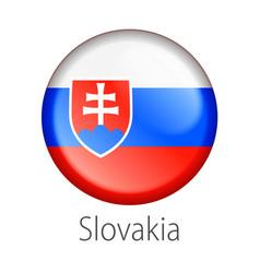 slovakia round button flag vector image