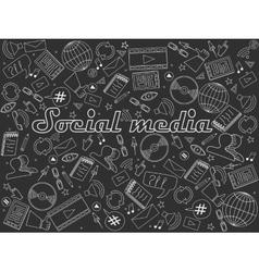 Social media chalk vector