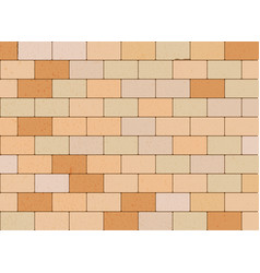 Stone block wall vector