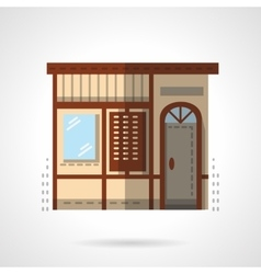 Storefronts flat color icon Post office vector image