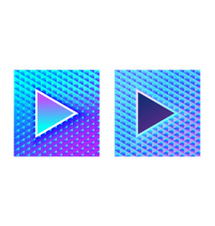 stylish glamor play buttons brilliant blue pink vector image