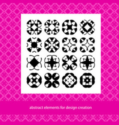 suits for branding logo or patterns abstract vector image