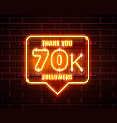 thank you followers peoples 70k online social vector image