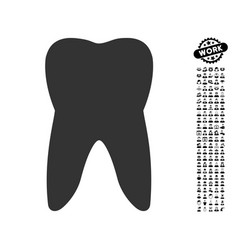 Tooth icon with work bonus vector