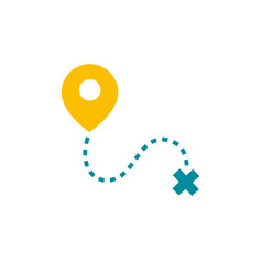 Traveling geolocation sign vector