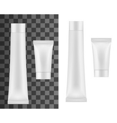 tube for cream cosmetics or toothpaste mockup vector image