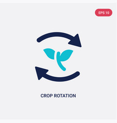 Two color crop rotation icon from agriculture vector
