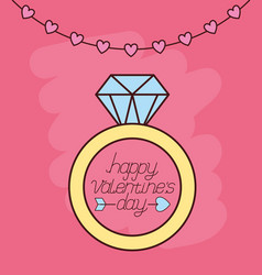 Valentines day celebration with ring proposal vector