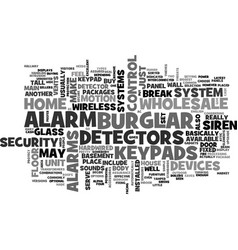 Wholesale burglar alarm text word cloud concept vector