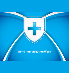 world immunization week vector image