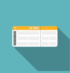 air ticket or boarding pass icon vector image