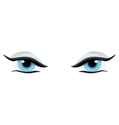 blue womens charming eyes on a white background vector image vector image