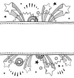 doodle pop label horizontal vector image vector image