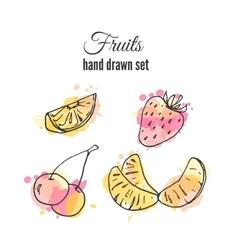 fruit Set of hand drawn fresh vector image vector image