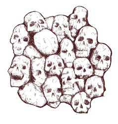 grungy skull vector image vector image