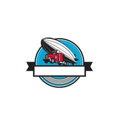 Half Zeppelin Blimp Half Semi-Truck Flying vector image