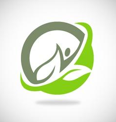leaf ecology spa logo vector image