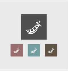 peas icon simple vector image