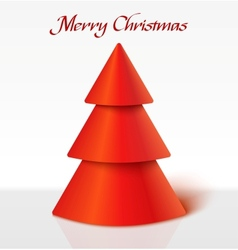 Red christmas tree vector image vector image