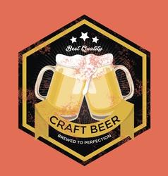 Retro Craft Beer Sign vector image