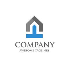 start up of real estate logo design vector image vector image