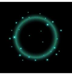 Abstract mosaic shining circle vector image vector image