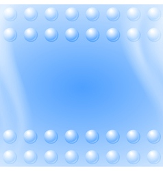 Bubbles on blue wave background vector image vector image
