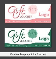 Gift voucher template clean and modern style vector image