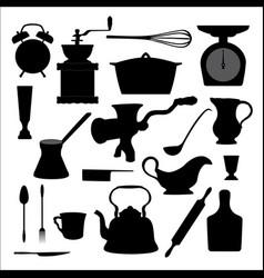 Kitchen tools icon vector image