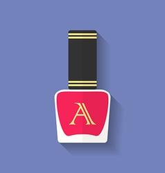 Nail polish nail varnish icon Flat style vector image