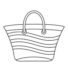 Women beach bag icon outline style vector image