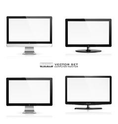 Computer monitor vector image
