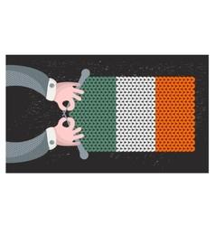 Hand made flag of Ireland vector image