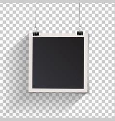 blank retro vintage photo frame set hanging on a vector image vector image