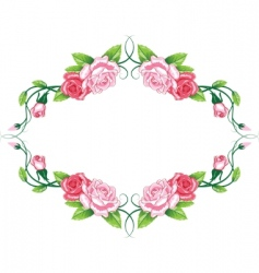 greeting floral rose card vector image vector image