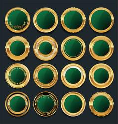 luxury golden design elements collection 7 vector image vector image