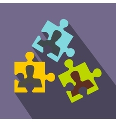 Selecting employees icon flat style vector image
