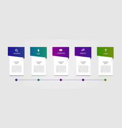 5 steps timeline infographic template vector