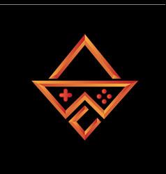 Abc gamer logo design template vector